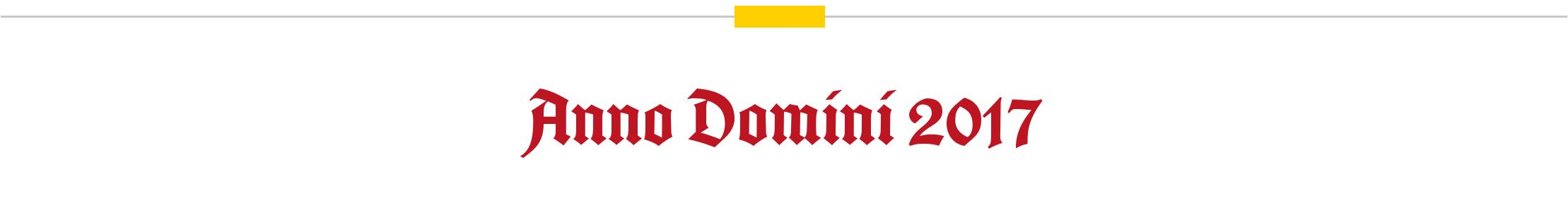 Anno Domini 2017